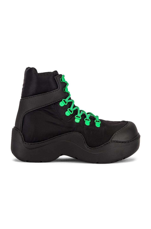 Image 1 of Bottega Veneta Puddle Bomber Boots in Black & Grass