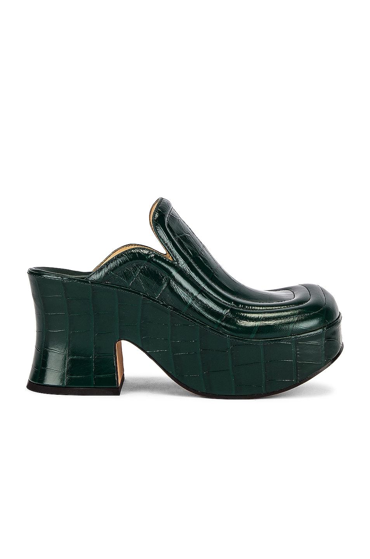 Image 1 of Bottega Veneta Wedge Clogs in Billiard