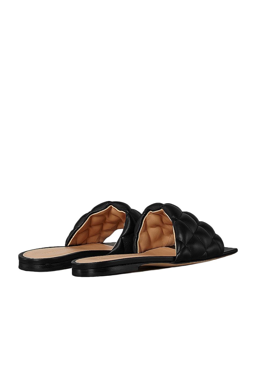 Image 3 of Bottega Veneta Leather Quilted Slides in Black