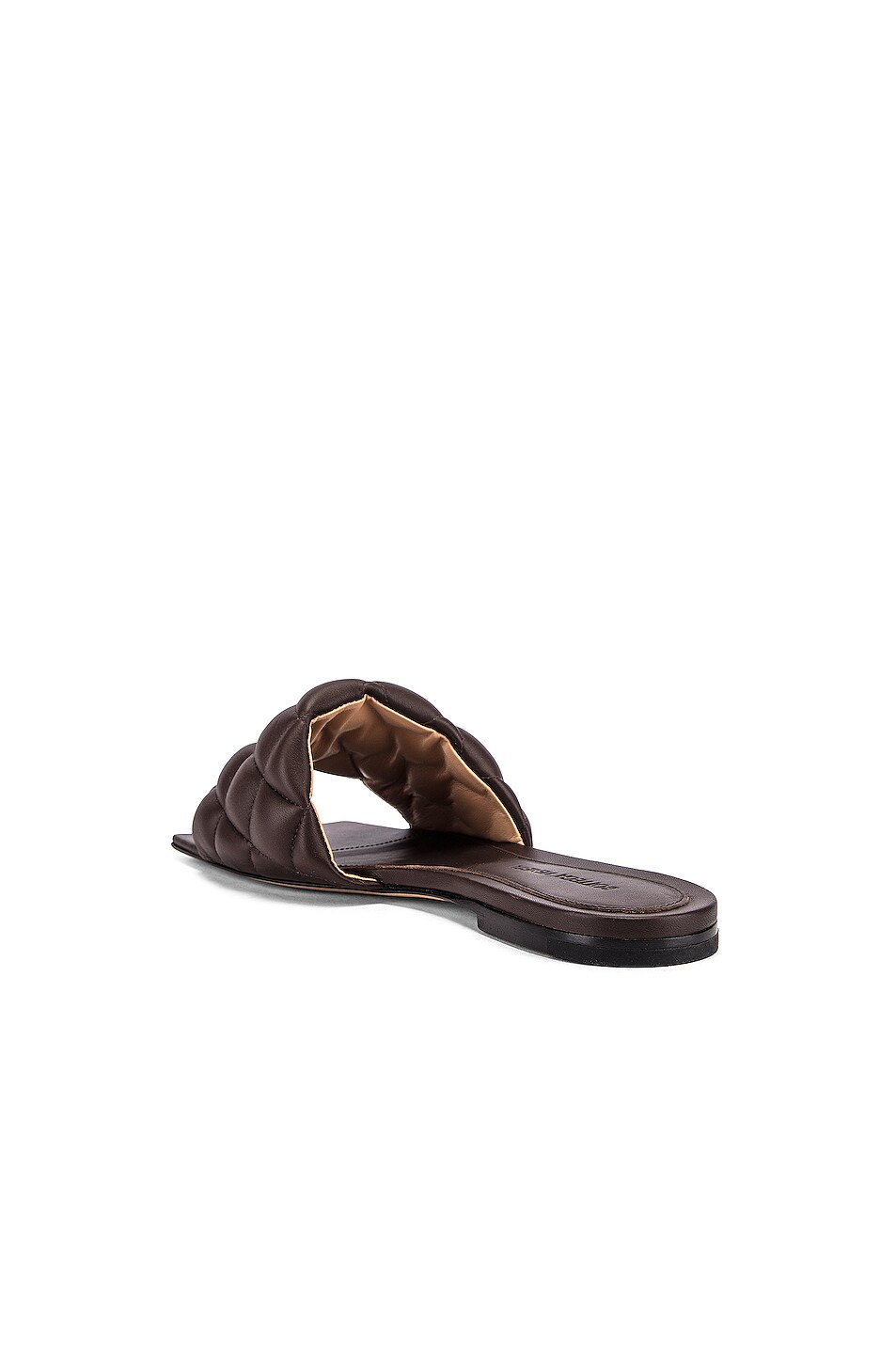Image 3 of Bottega Veneta Leather Quilted Slides in Chocolate
