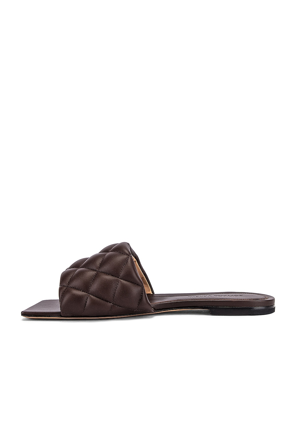 Image 5 of Bottega Veneta Leather Quilted Slides in Chocolate