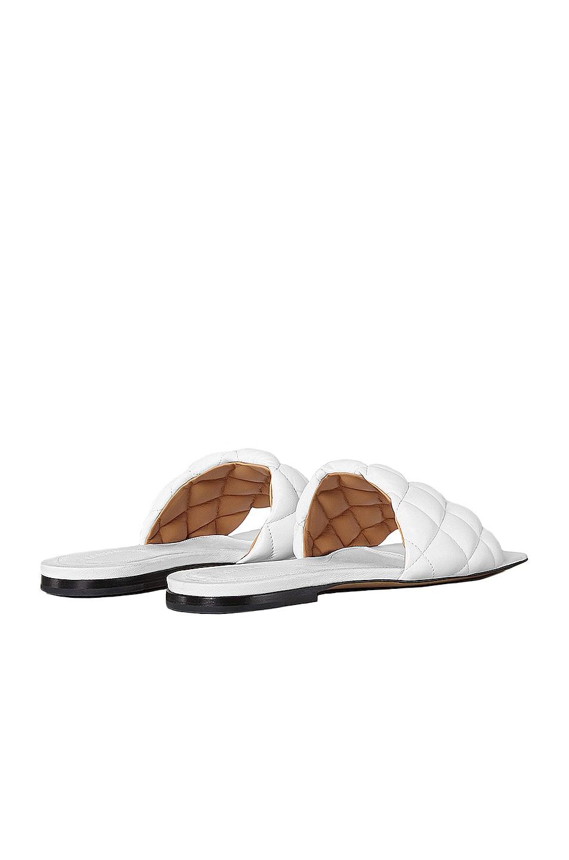 Image 3 of Bottega Veneta Leather Quilted Slides in Optic White