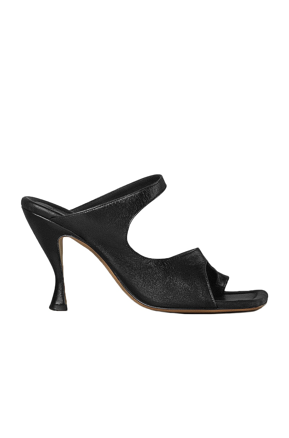 Image 1 of Bottega Veneta Leather Cutout Sandals in Black