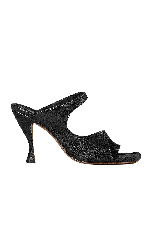 Image 1 of Bottega Veneta Leather Cutout Sandals in Black