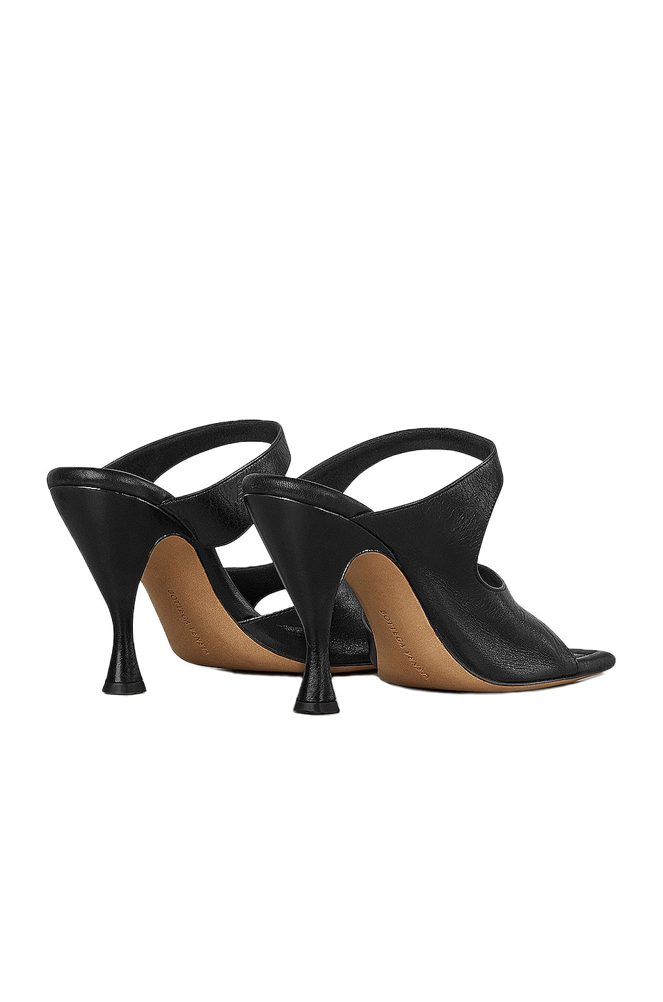 Image 3 of Bottega Veneta Leather Cutout Sandals in Black
