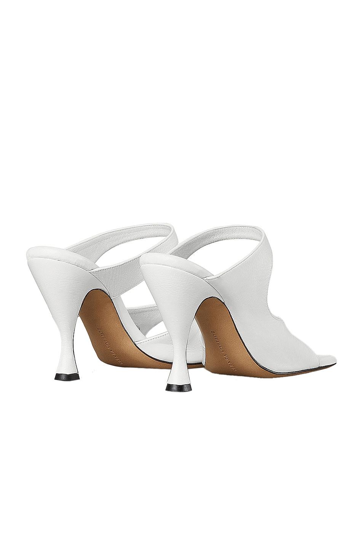 Image 3 of Bottega Veneta Leather Cutout Sandals in Optic White