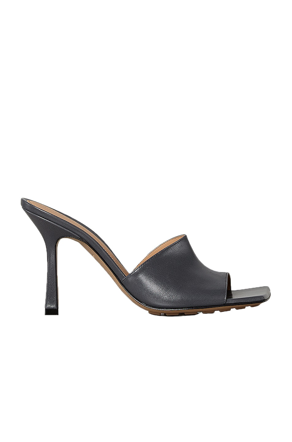 Image 1 of Bottega Veneta Leather Mules in Light Graphite