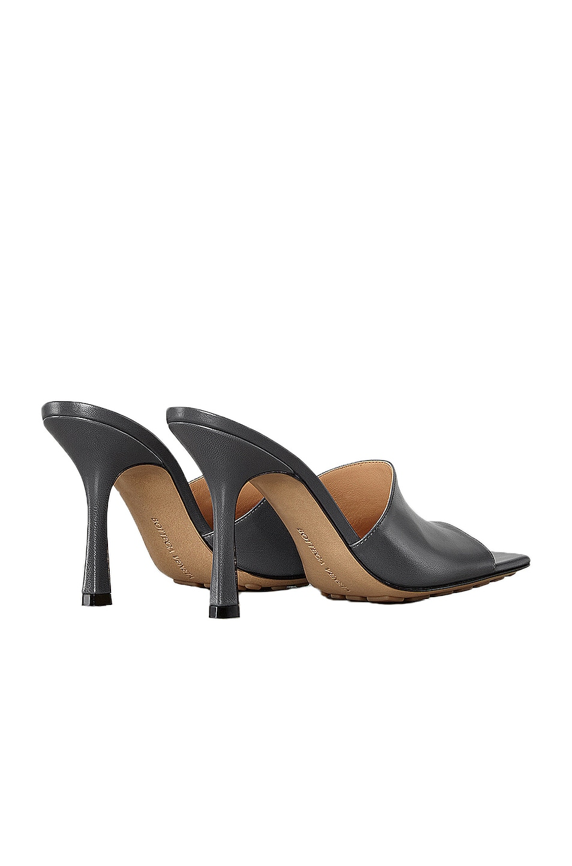 Image 3 of Bottega Veneta Leather Mules in Light Graphite