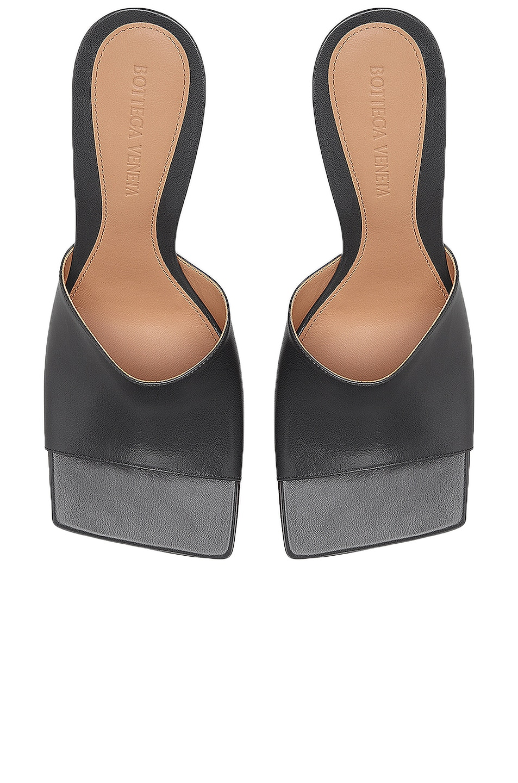 Image 4 of Bottega Veneta Leather Mules in Light Graphite