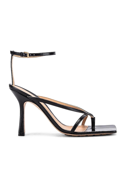 Image 1 of Bottega Veneta Leather Stretch Toe Heels in Black
