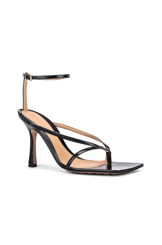 Image 2 of Bottega Veneta Leather Stretch Toe Heels in Black