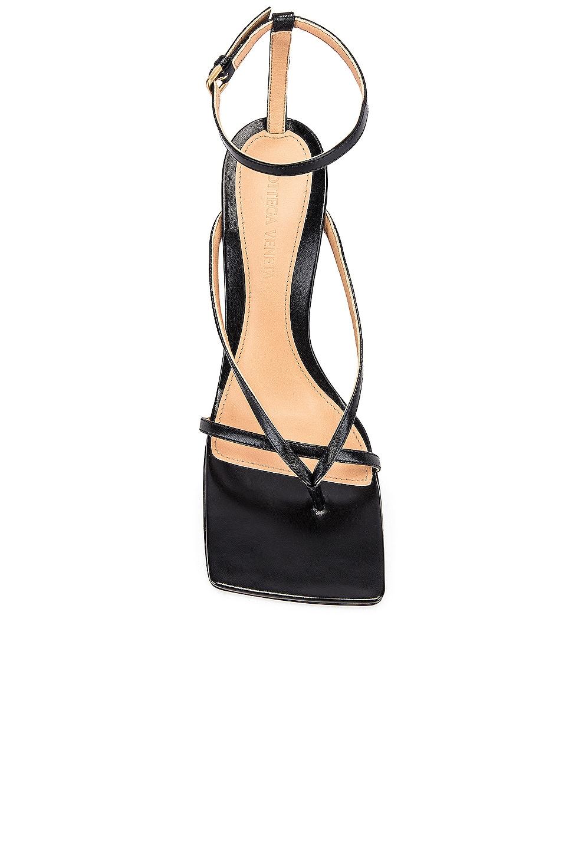 Image 4 of Bottega Veneta Leather Stretch Toe Heels in Black