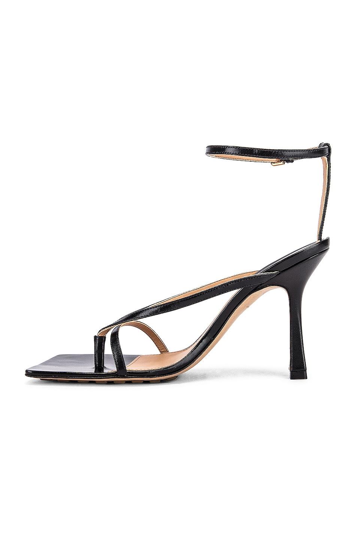 Image 5 of Bottega Veneta Leather Stretch Toe Heels in Black