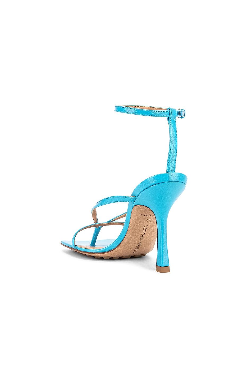 Image 3 of Bottega Veneta Leather Stretch Toe Heels in Sky Blue