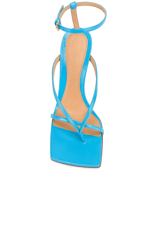 Image 4 of Bottega Veneta Leather Stretch Toe Heels in Sky Blue