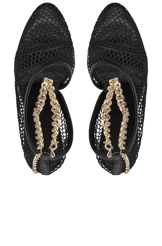 Image 4 of Bottega Veneta Mesh Chunky Chain Heels in Black & Gold