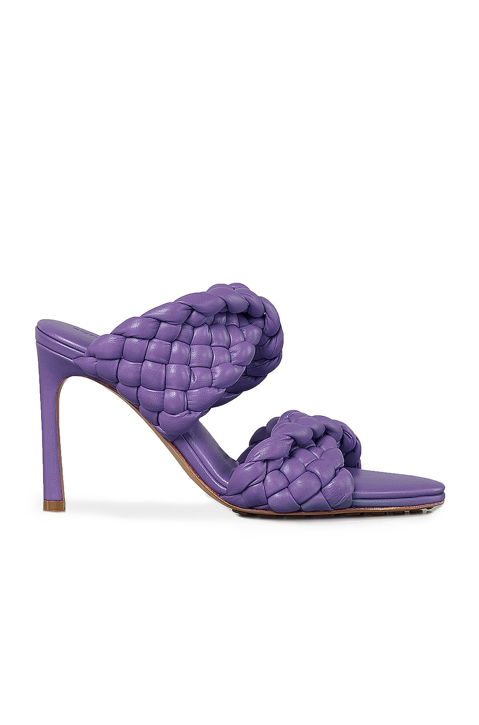 Image 1 of Bottega Veneta Padded Woven Leather Sandals in Purple