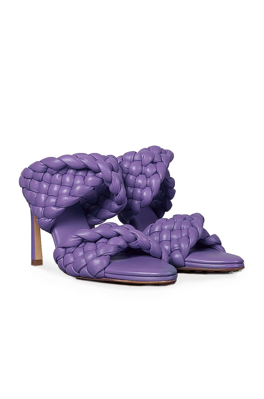 Image 2 of Bottega Veneta Padded Woven Leather Sandals in Purple