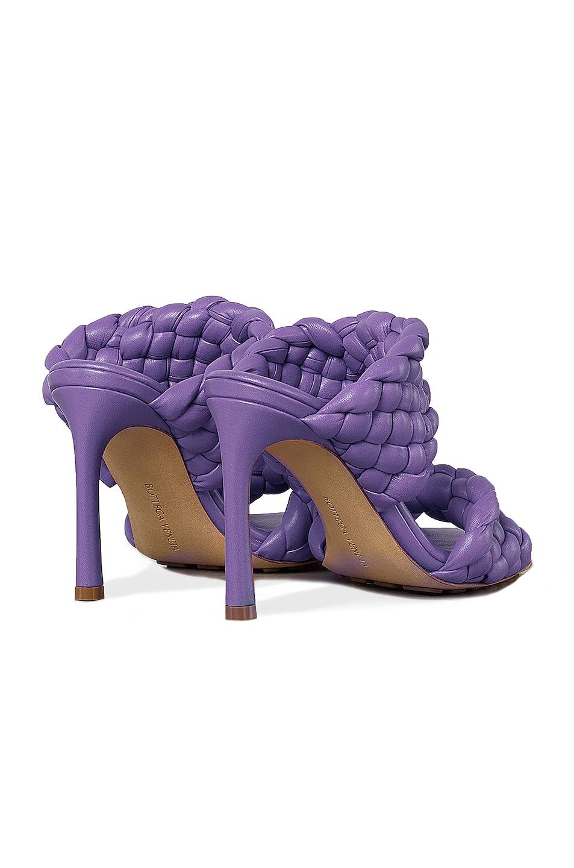 Image 3 of Bottega Veneta Padded Woven Leather Sandals in Purple