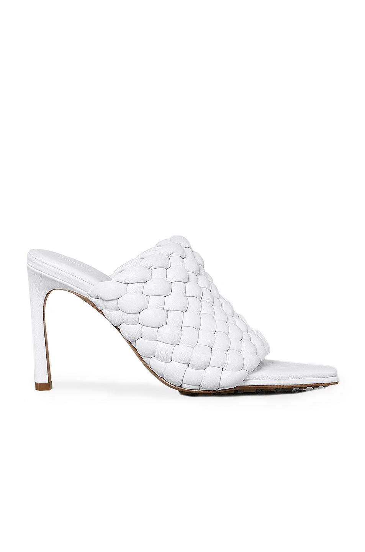 Image 1 of Bottega Veneta Padded Leather Sandals in Optic White