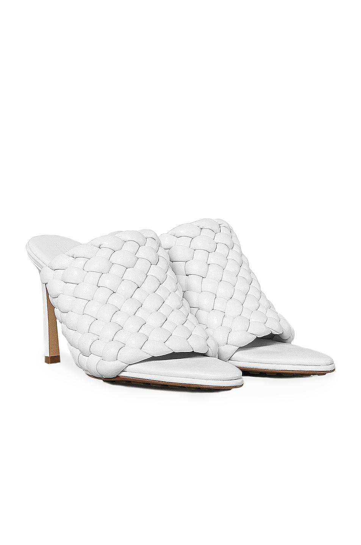 Image 2 of Bottega Veneta Padded Leather Sandals in Optic White