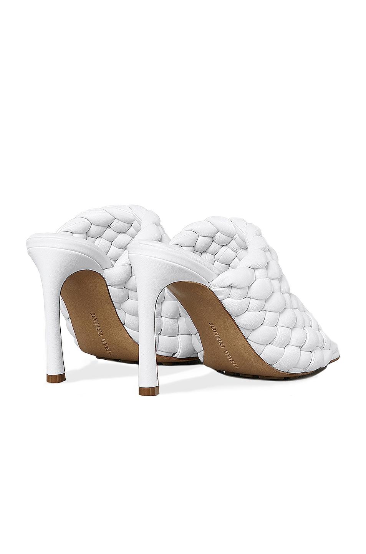Image 3 of Bottega Veneta Padded Leather Sandals in Optic White