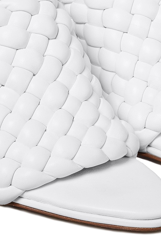 Image 5 of Bottega Veneta Padded Leather Sandals in Optic White