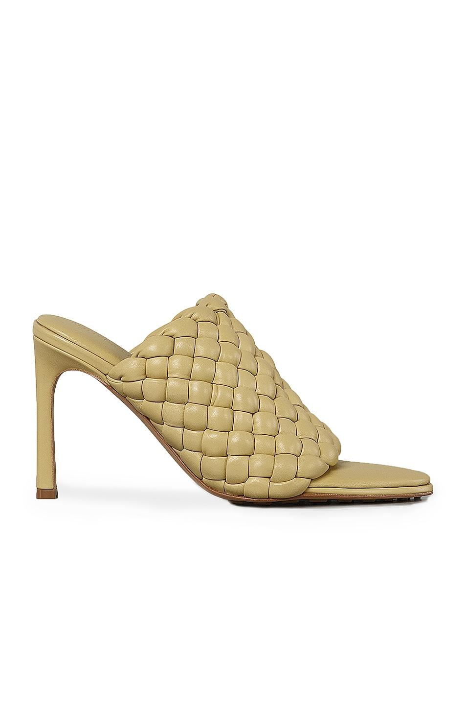 Image 1 of Bottega Veneta Padded Leather Sandals in Tapioca