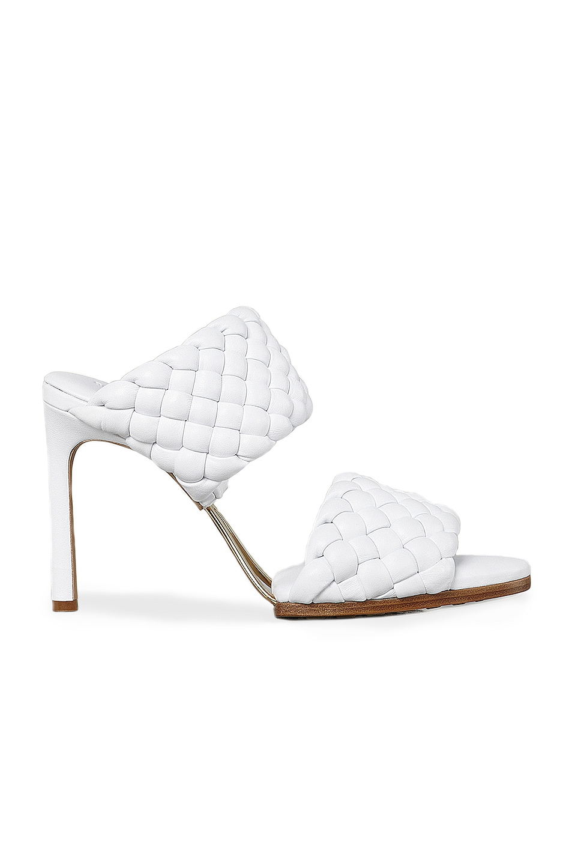 Image 1 of Bottega Veneta Lido Leather Woven Sandals in Optic White