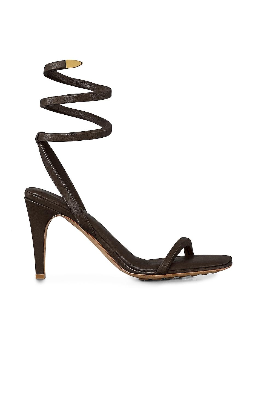 Image 1 of Bottega Veneta Ankle Spiral Heels in Fondente