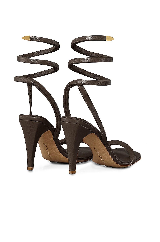 Image 3 of Bottega Veneta Ankle Spiral Heels in Fondente