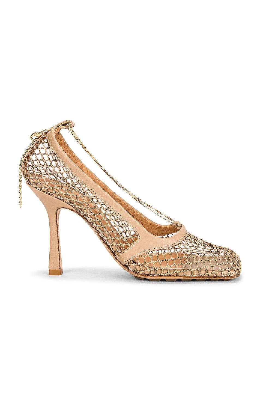 Image 1 of Bottega Veneta Stretch Sandals in Beige & Beige