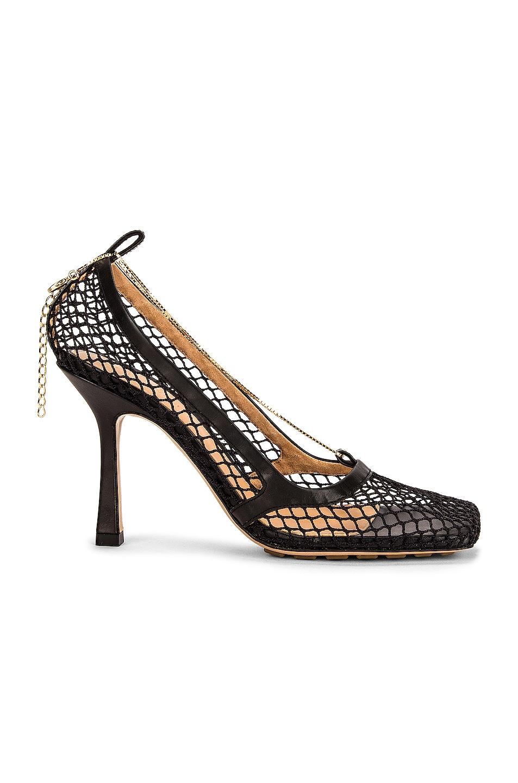 Image 1 of Bottega Veneta Stretch Sandals in Black & Black