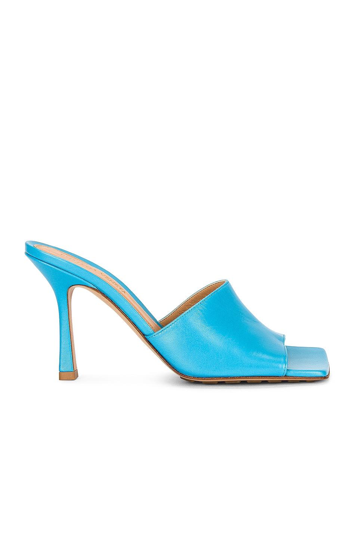 Image 1 of Bottega Veneta Leather Mules in Sky Blue