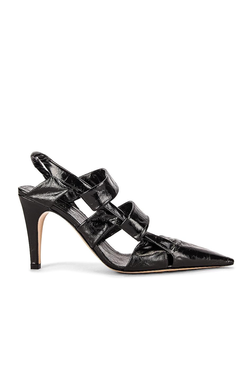 Image 1 of Bottega Veneta The Point Slingback Sandals in Black