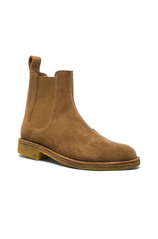 Image 2 of Bottega Veneta Suede Chelsea Boots in New Camel