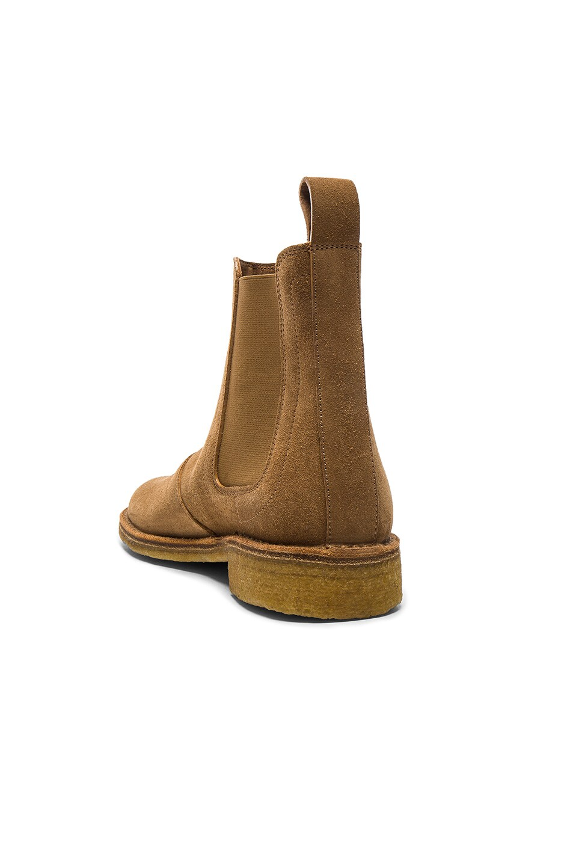 Image 3 of Bottega Veneta Suede Chelsea Boots in New Camel