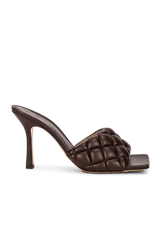 Image 1 of Bottega Veneta Leather Quilted Mules in Chocolate Spread