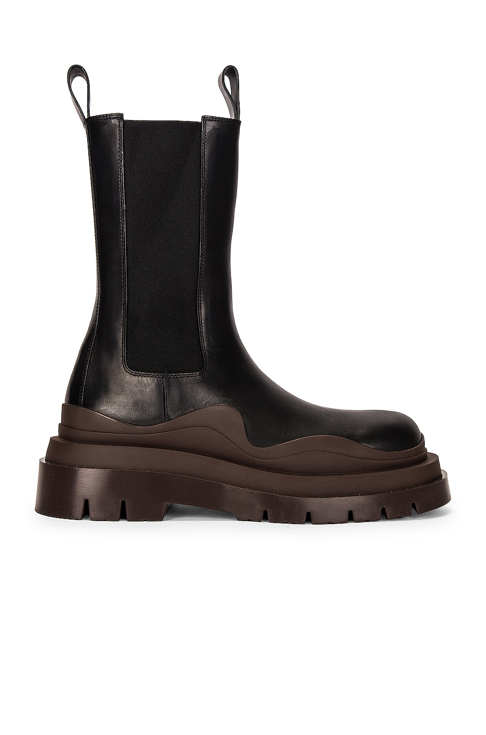 Image 1 of Bottega Veneta BV Tire Boots in Black & Brown