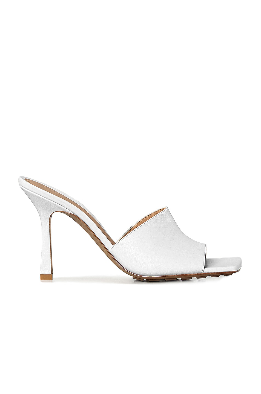 Image 1 of Bottega Veneta Leather Mules in Optic White