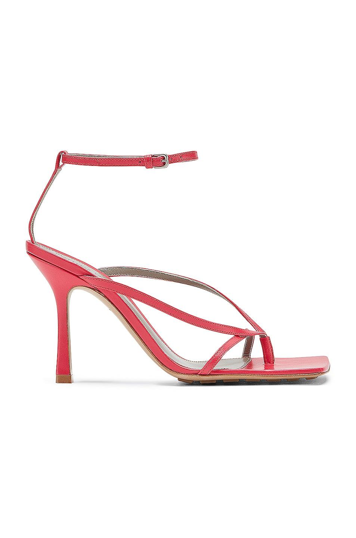 Image 1 of Bottega Veneta Leather Stretch Toe Heels in Lollipop