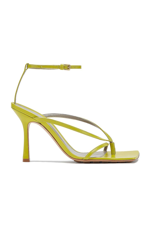 Image 1 of Bottega Veneta Leather Stretch Toe Heels in Kiwi