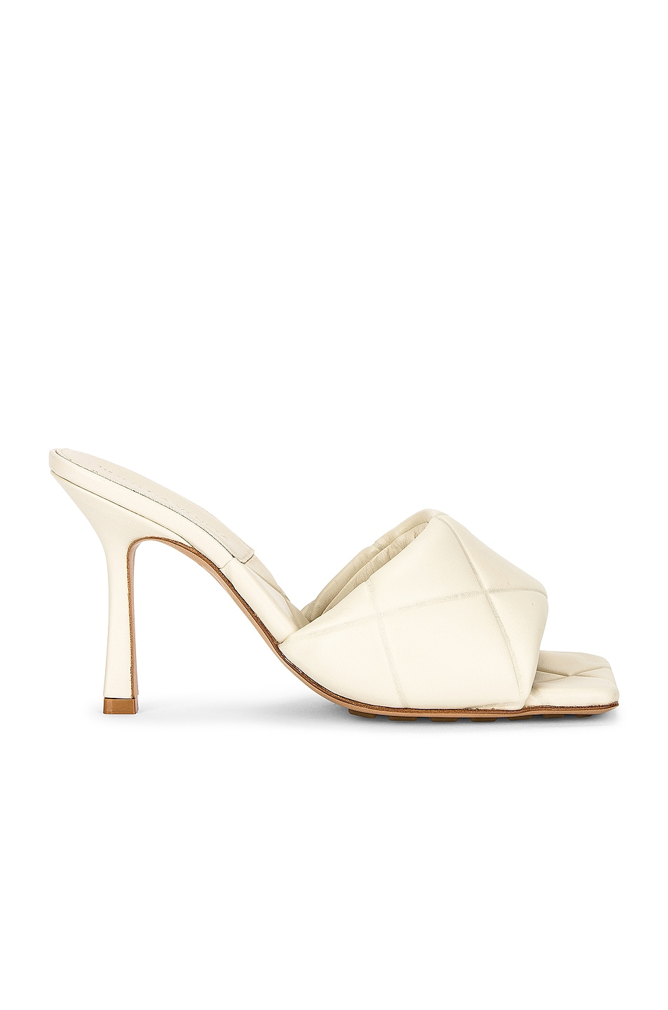 Image 1 of Bottega Veneta The Rubber Lido Sandals in Wax