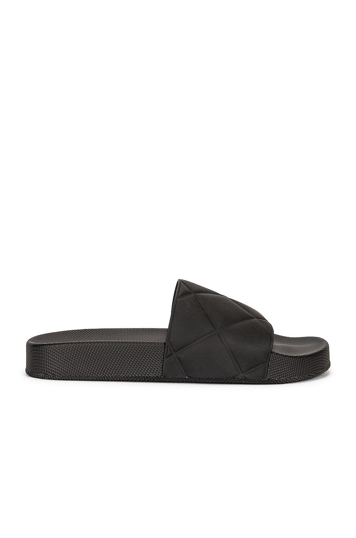 Image 1 of Bottega Veneta Rubber Slides in Black