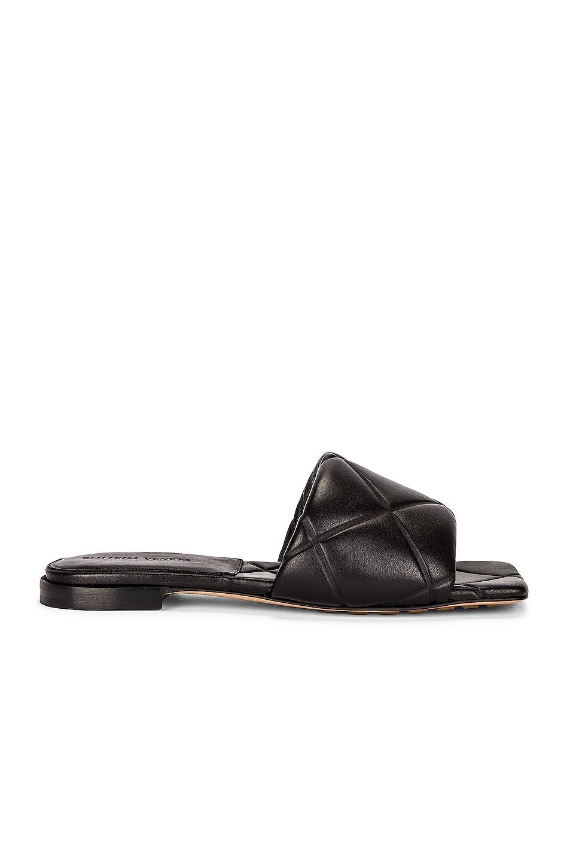 Image 1 of Bottega Veneta BV Rubber Lido Sandals in Black