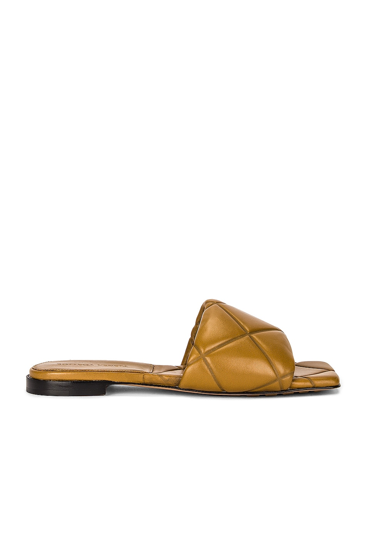 Image 1 of Bottega Veneta BV Rubber Lido Sandals in Acorn