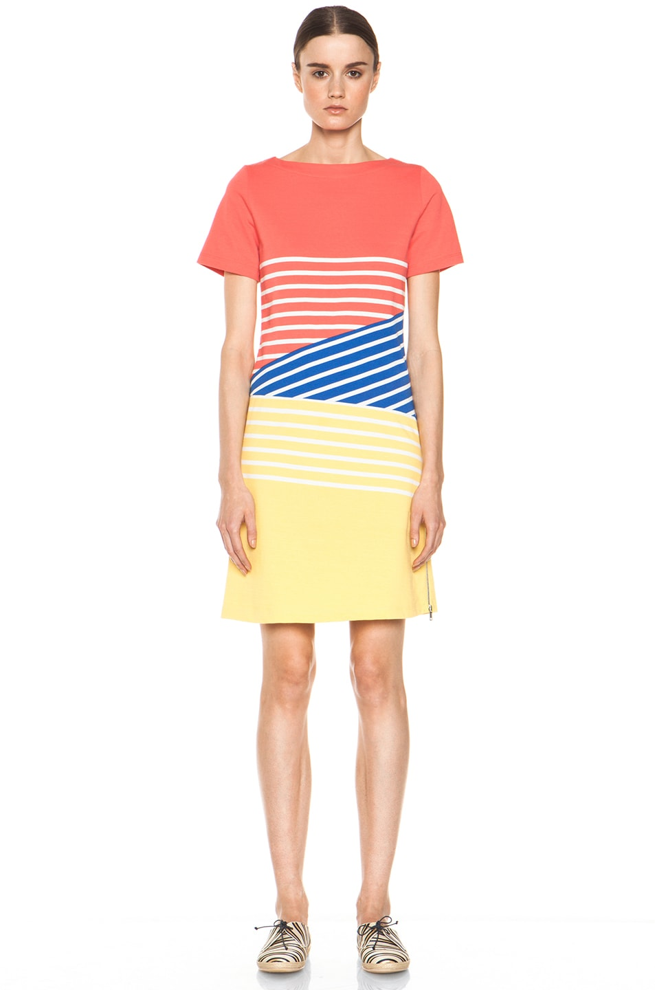 Image 1 of Boy. by Band of Outsiders Breton Dress in Cayenne