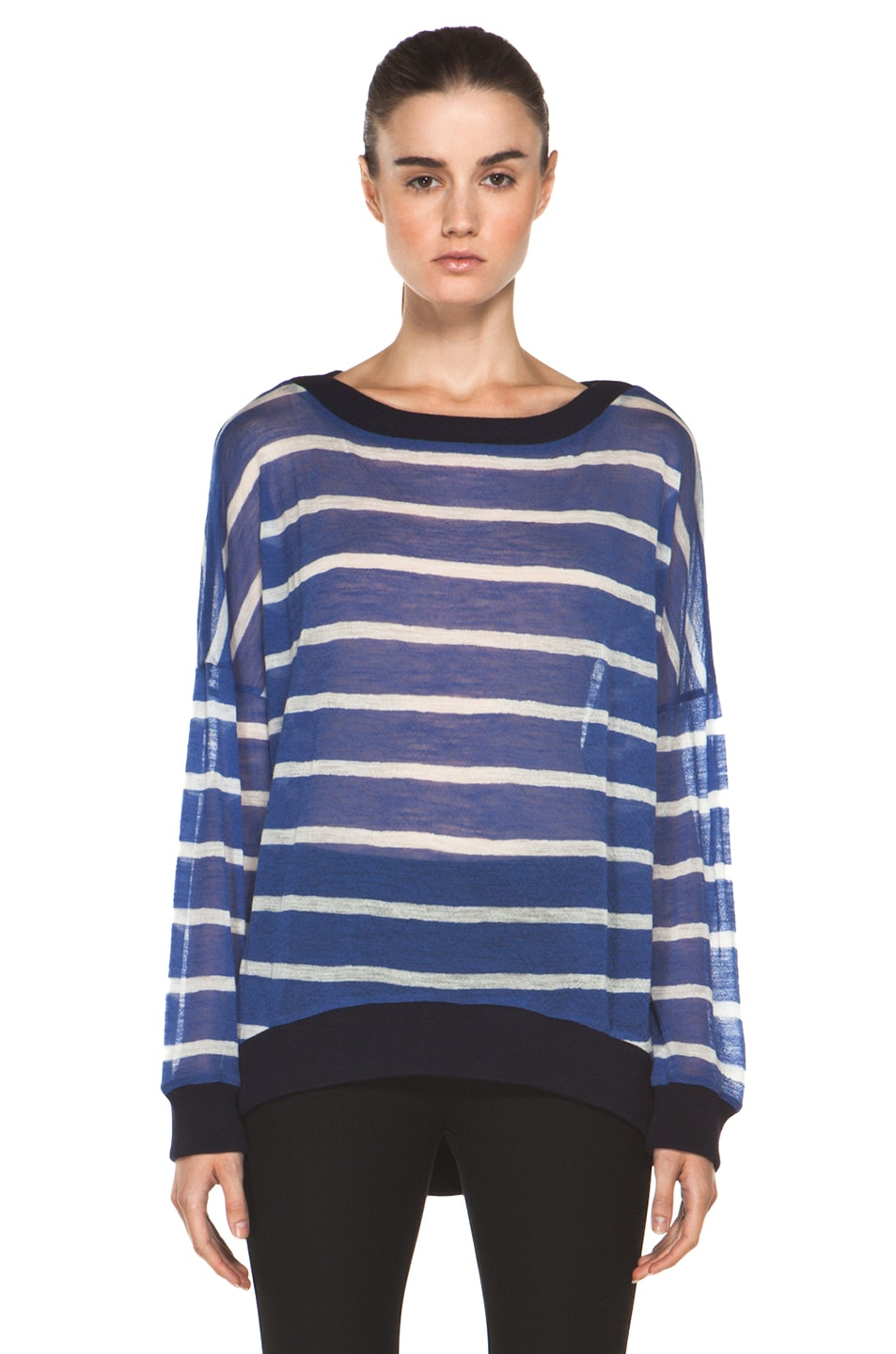 Image 1 of Boy. by Band of Outsiders Pullover in Blue Navy
