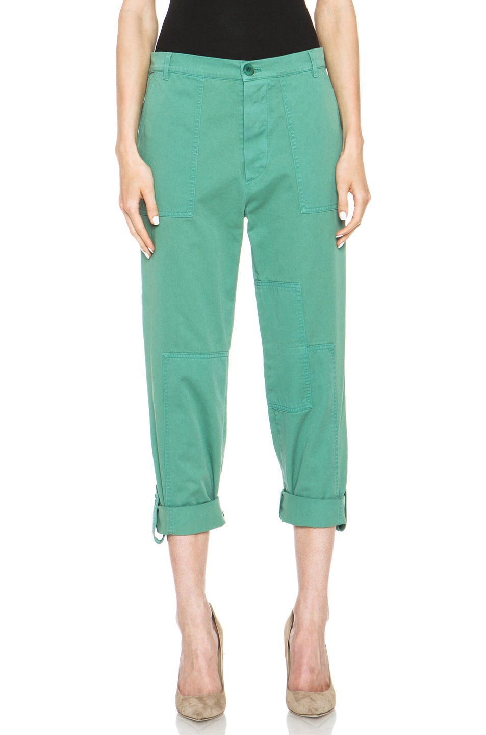 Image 1 of Boy. by Band of Outsiders Chino Cotton Liz Pant in Green