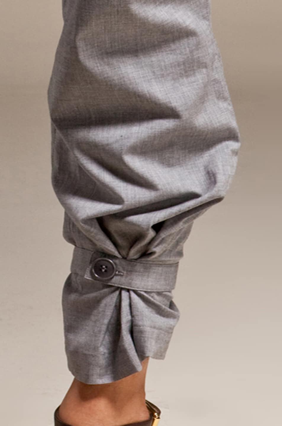 Image 5 of Boy. by Band of Outsiders Draped Pleated Pants in Grey